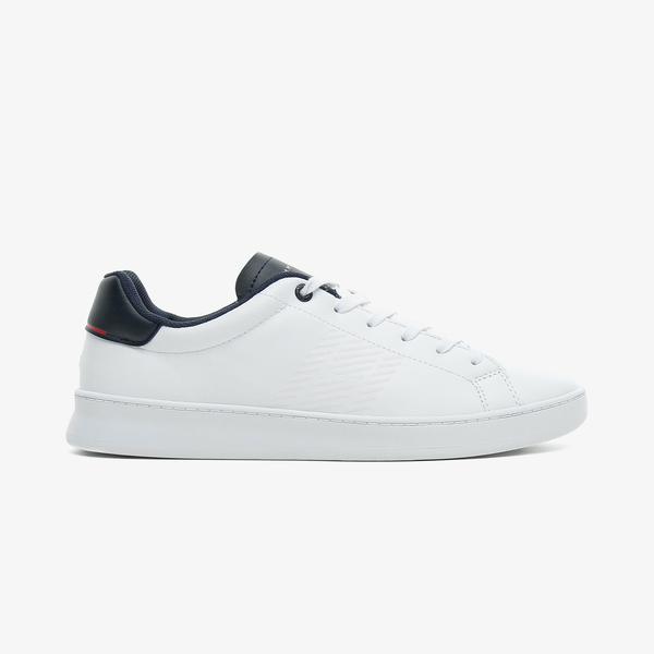 Tommy Hilfiger Retro Tennis Cupsole Leaer Erkek Beyaz Spor Ayakkabı