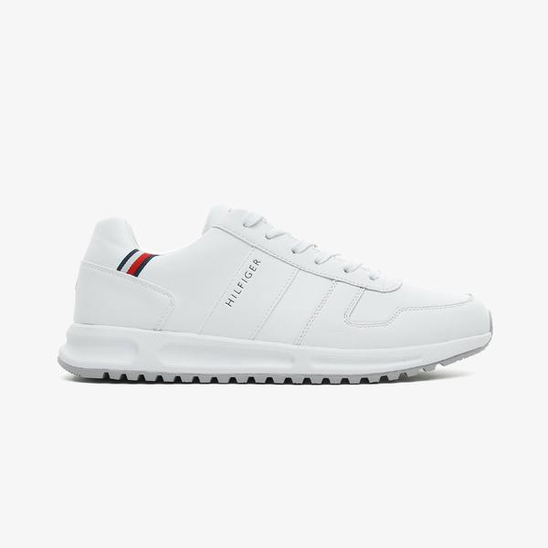 Tommy Hilfiger Moderncorporate Leaer Runner Erkek Beyaz Spor Ayakkabı