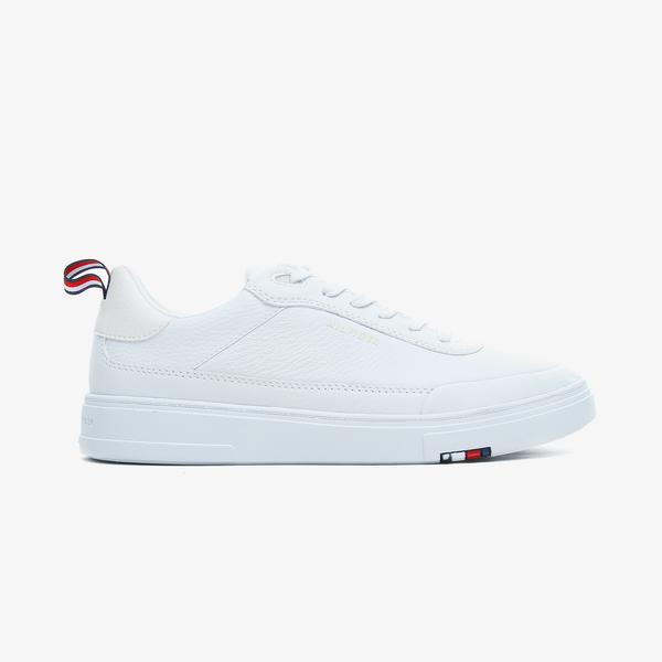 Tommy Hilfiger Modern Cupsole Leaer Erkek Beyaz Spor Ayakkabı
