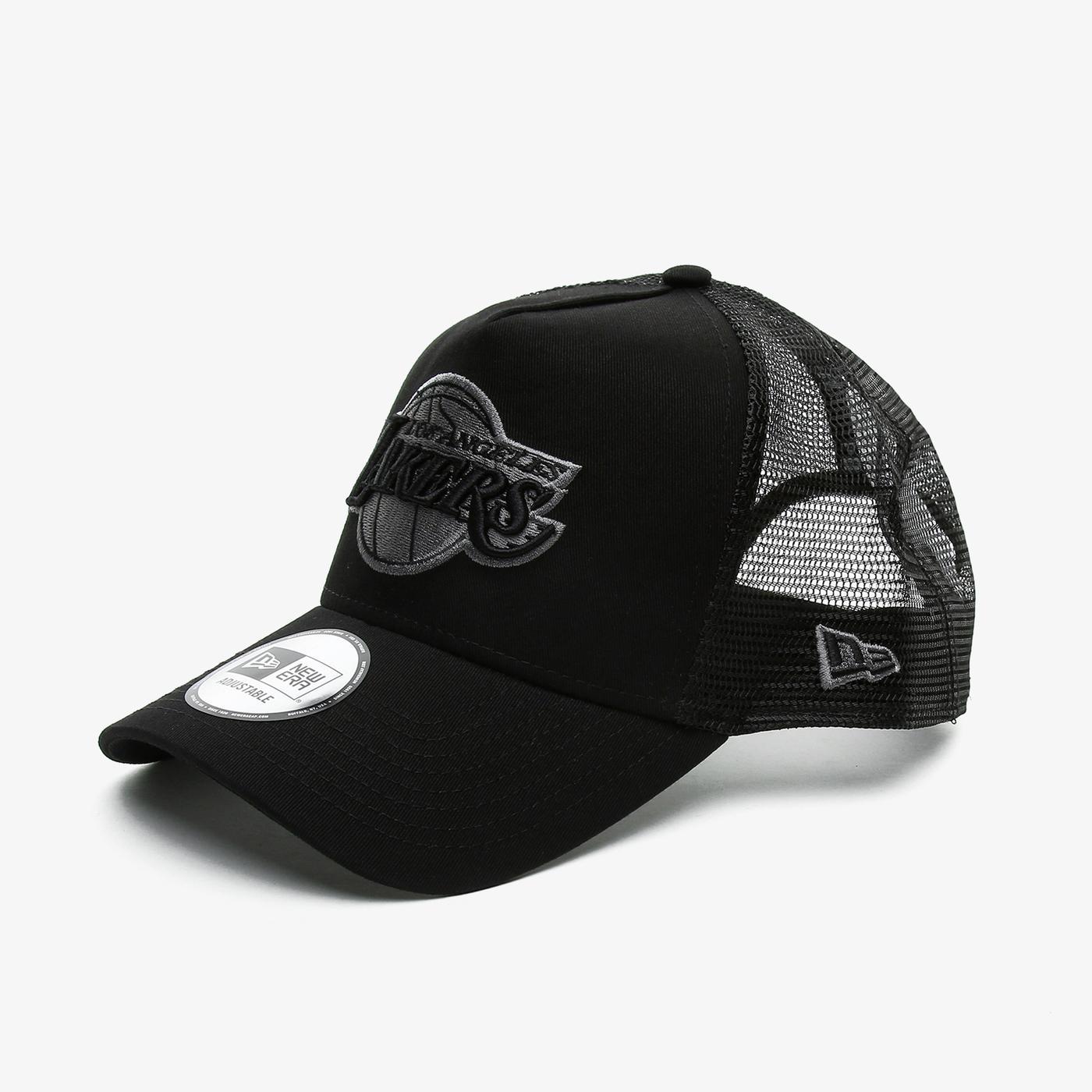 New Era Bob Team Logo 9Forty AF Trckr Loslak Unisex Siyah Şapka