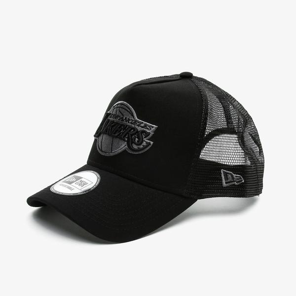 New Era Bob Team Logo 9Forty AF Trckr Loslak Unisex Siyah Şapka