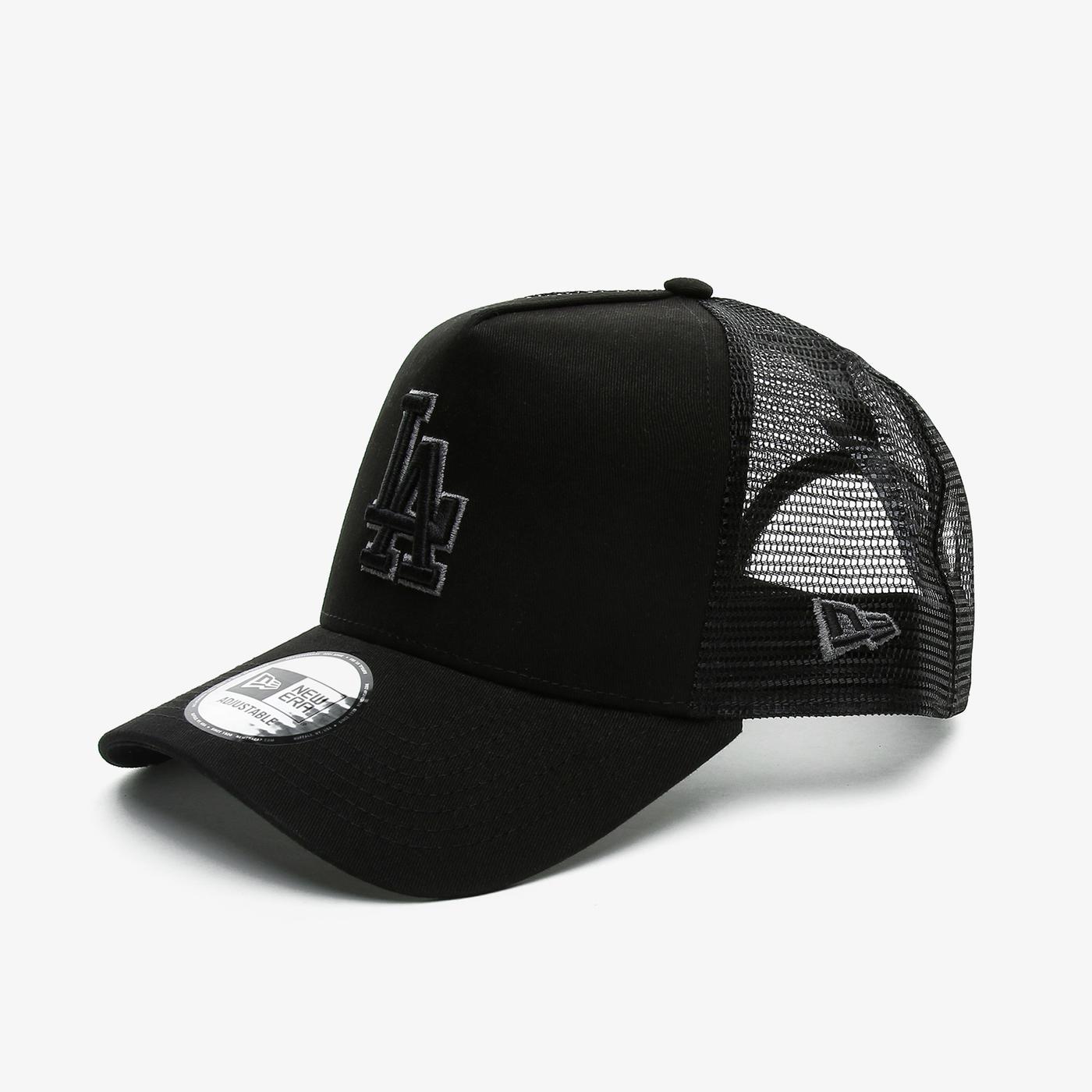 New Era Bob Team Logo 9Forty AF Trckr Losdod Unisex Siyah Şapka