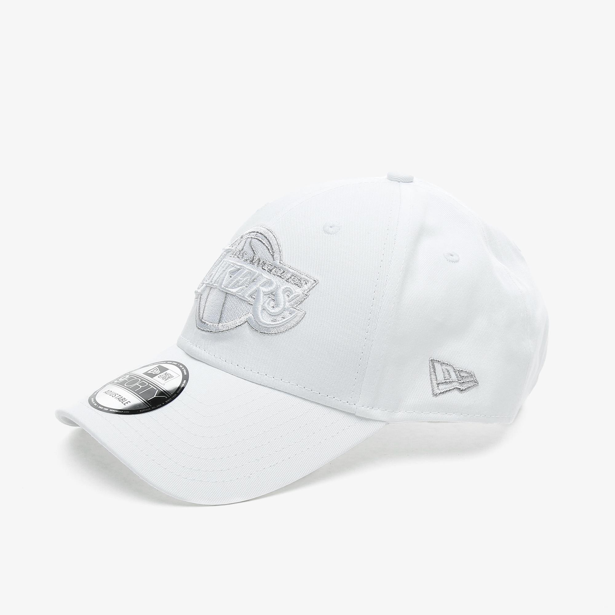 New Era NE Metallic Logo 9Forty Loslak Unisex Beyaz Şapka