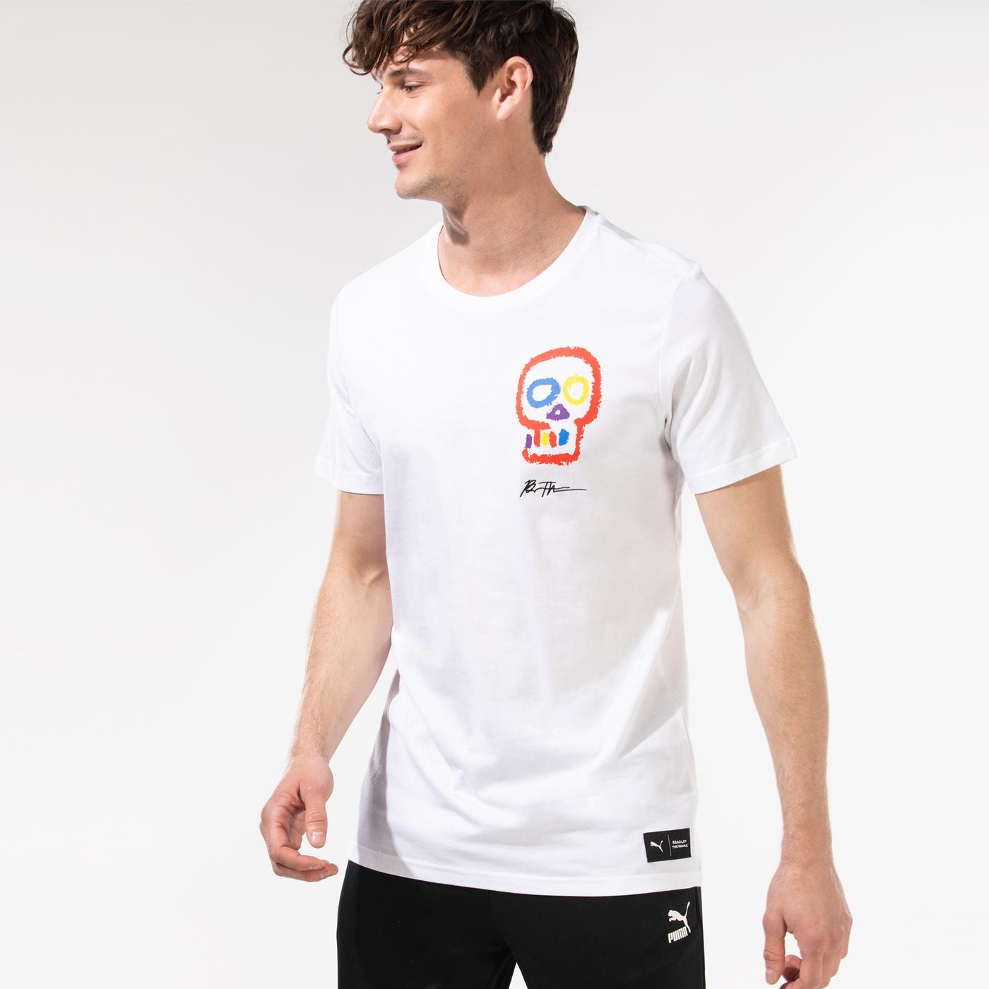 Puma x Bradley Theodore Erkek Beyaz T-Shirt