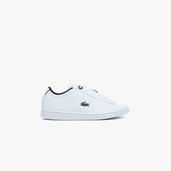 Lacoste Carnaby Evo 0120 2 Suc Çocuk Beyaz - Siyah Spor Ayakkabı