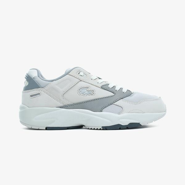 Lacoste Storm 96 Lo 0721 1 G Sma Erkek Beyaz - Gri Spor Ayakkabı
