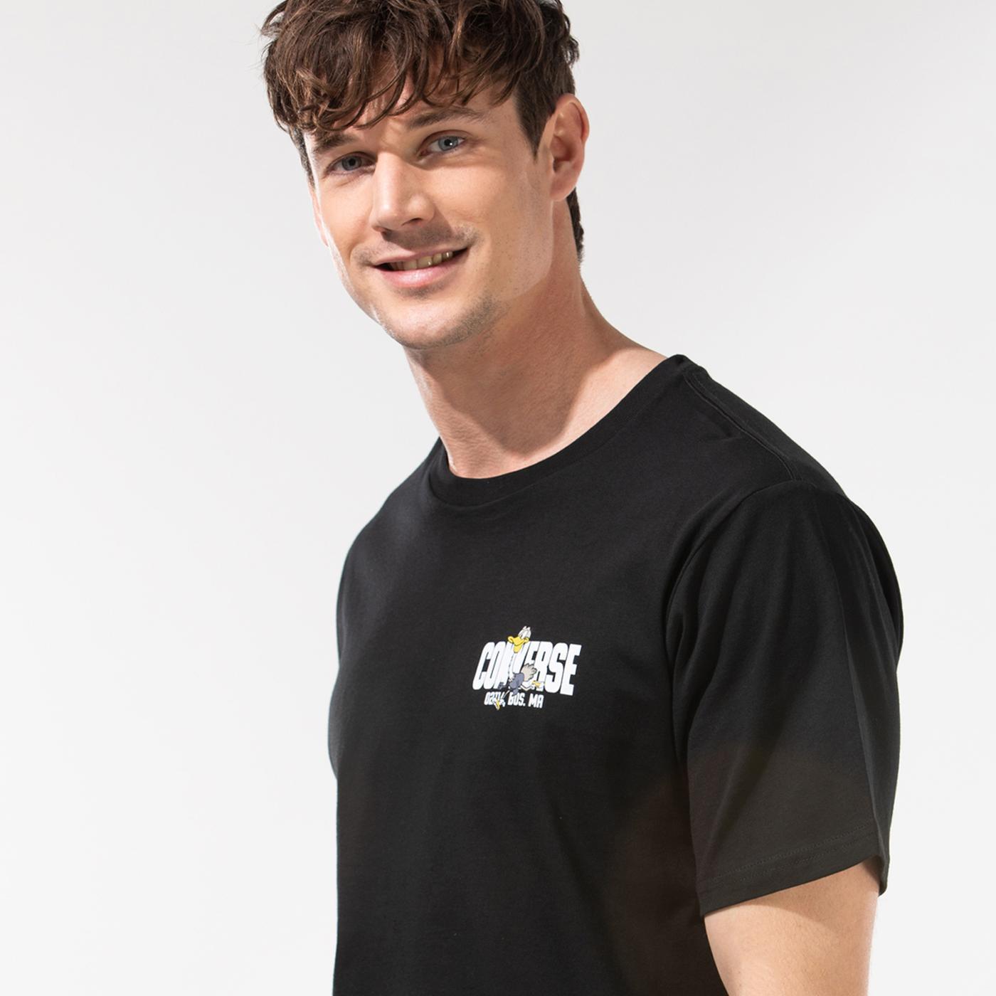 Converse Keep Moving Ss Erkek Siyah T-Shirt