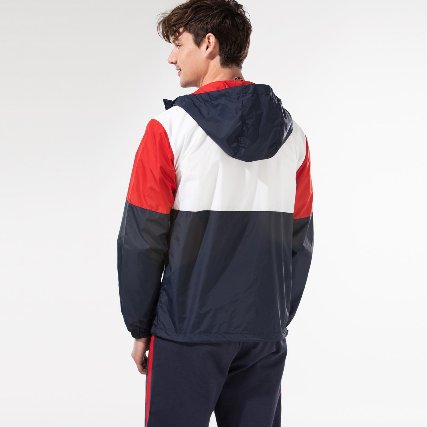 Tommy Hilfiger TJM Nylon Colorblock Windbreaker Erkek Beyaz Ceket