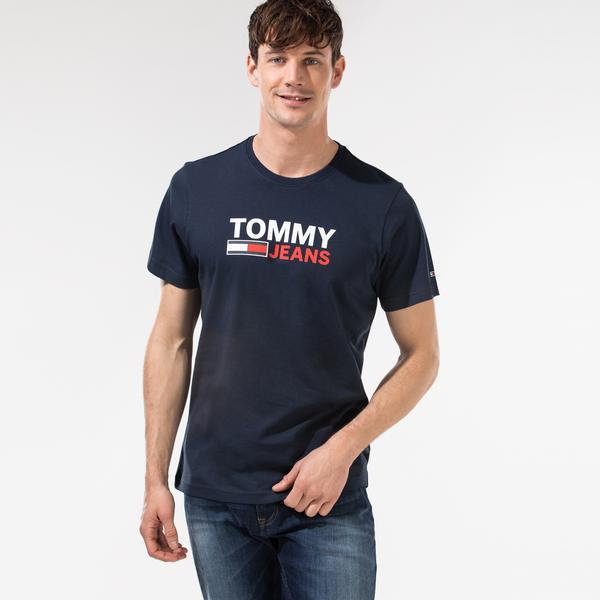 Tommy Hilfiger TJM Corp Logo Erkek Lacivert T-Shirt