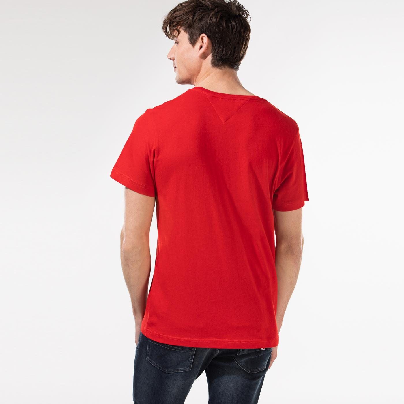 Tommy Hilfiger TJM Corp Logo Erkek Kırmızı T-Shirt