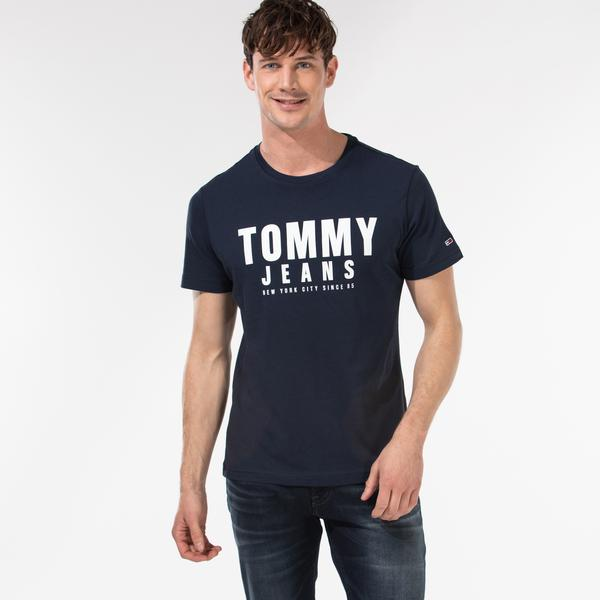Tommy Hilfiger TJM Center Chest Tommy Graphic Erkek Lacivert T-Shirt