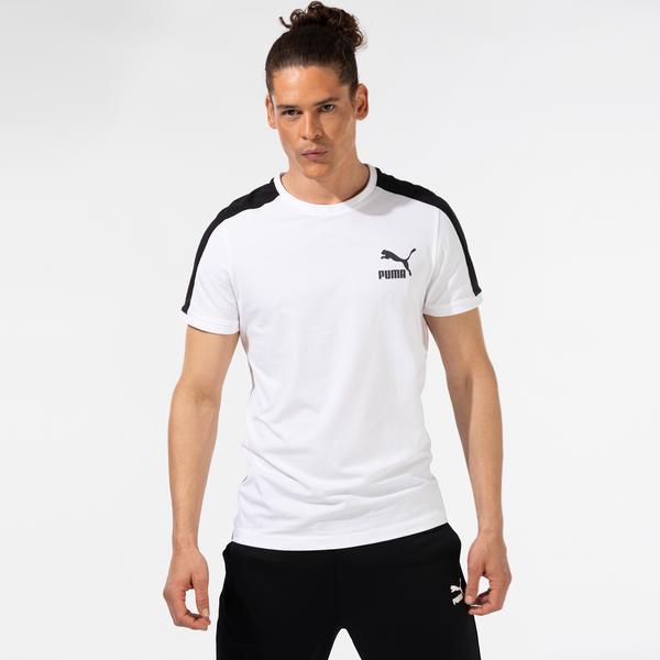 Puma Iconic T7 Erkek Beyaz T-Shirt