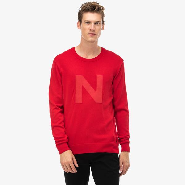 Nautica Sweater Erkek Kırmızı Sweatshirt