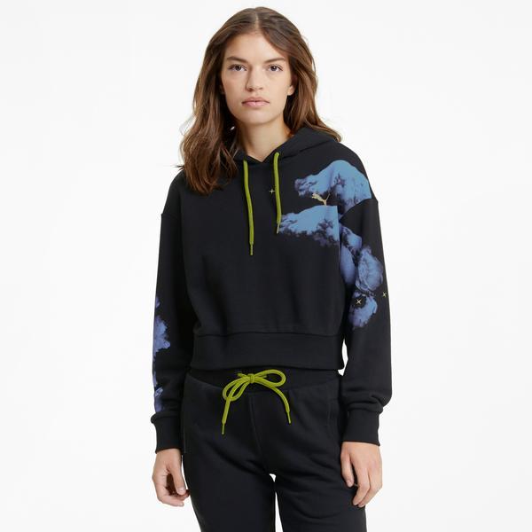Puma Evide Graphic Kadın Siyah Sweatshirt