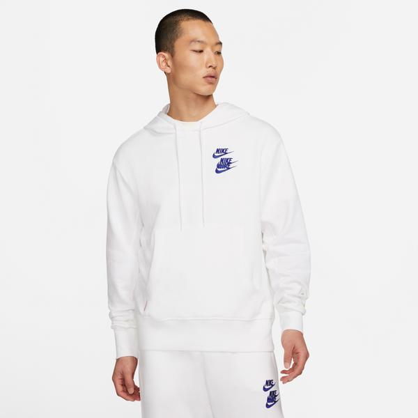 Nike Sportswear Pullover French Terry Erkek Beyaz Sweatshirt
