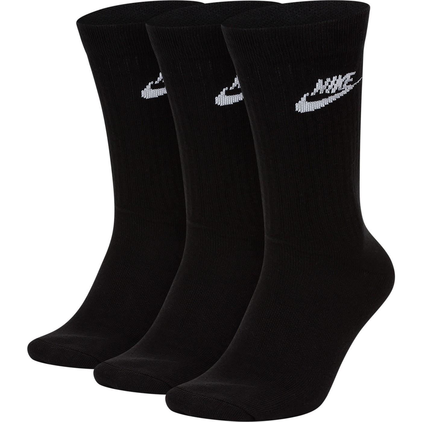 Nike Sportswear Every Essential Crew Unisex Siyah Çorap