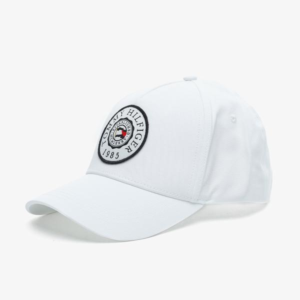 Tommy Hilfiger Round Patch Erkek Beyaz Şapka