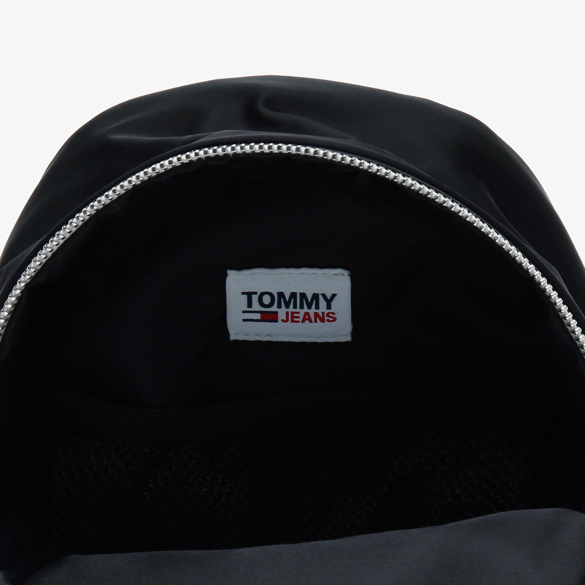 Tommy Hilfiger TJW Mini Logo Tape Nyln Kadın Siyah Sırt Çantası