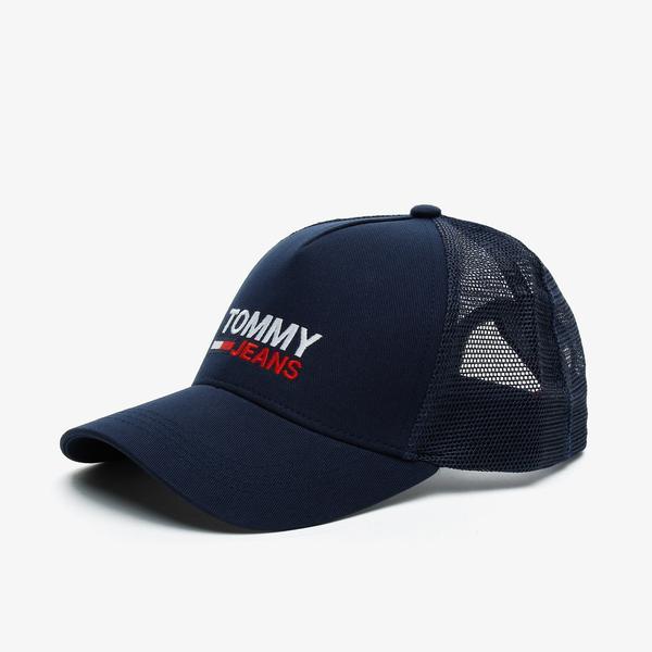 Tommy Hilfiger TJM Flag Trucker Erkek Lacivert Şapka