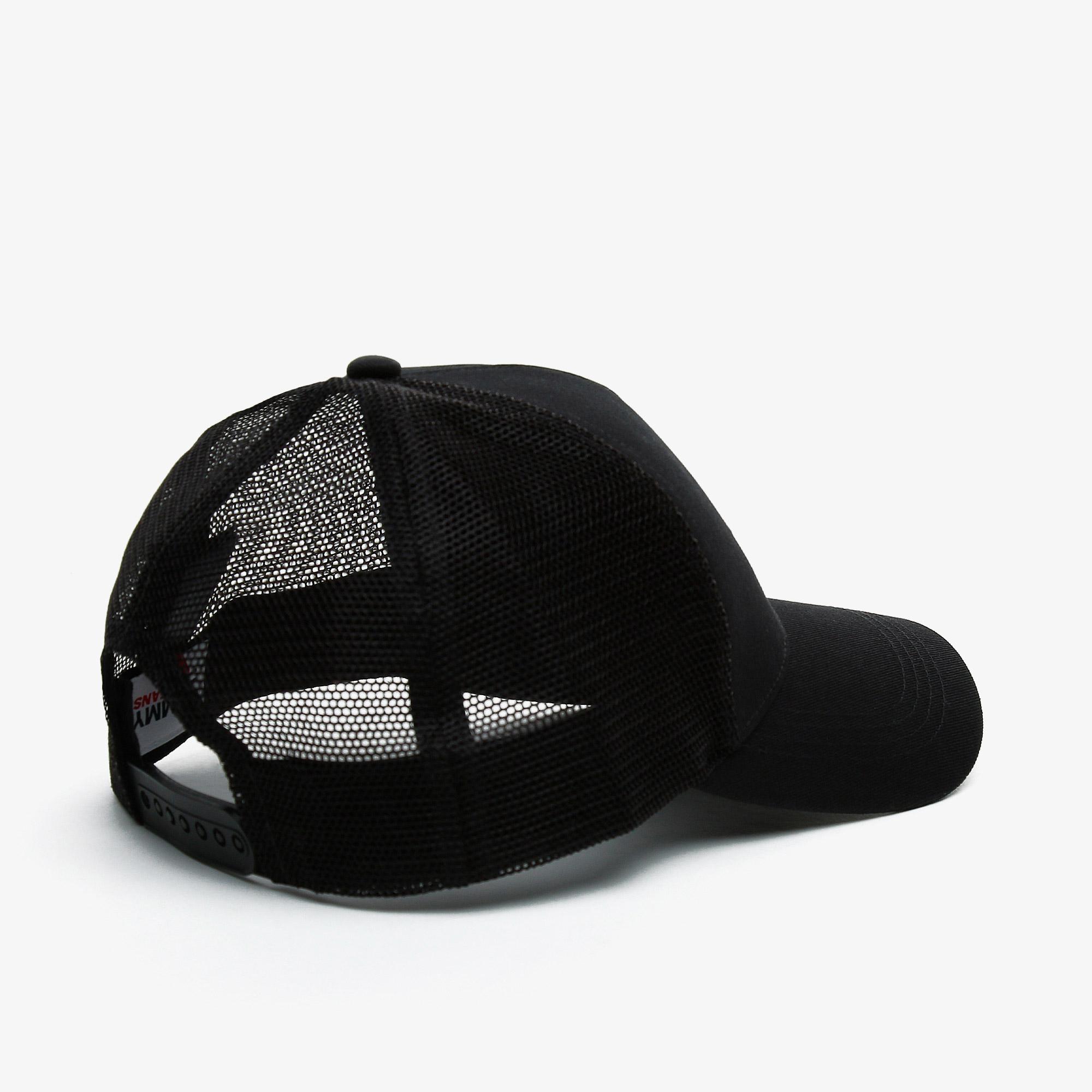 Tommy Hilfiger TJM Flag Trucker Erkek Siyah Şapka