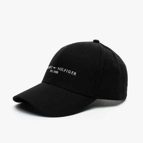Tommy Hilfiger Established Erkek Siyah Şapka