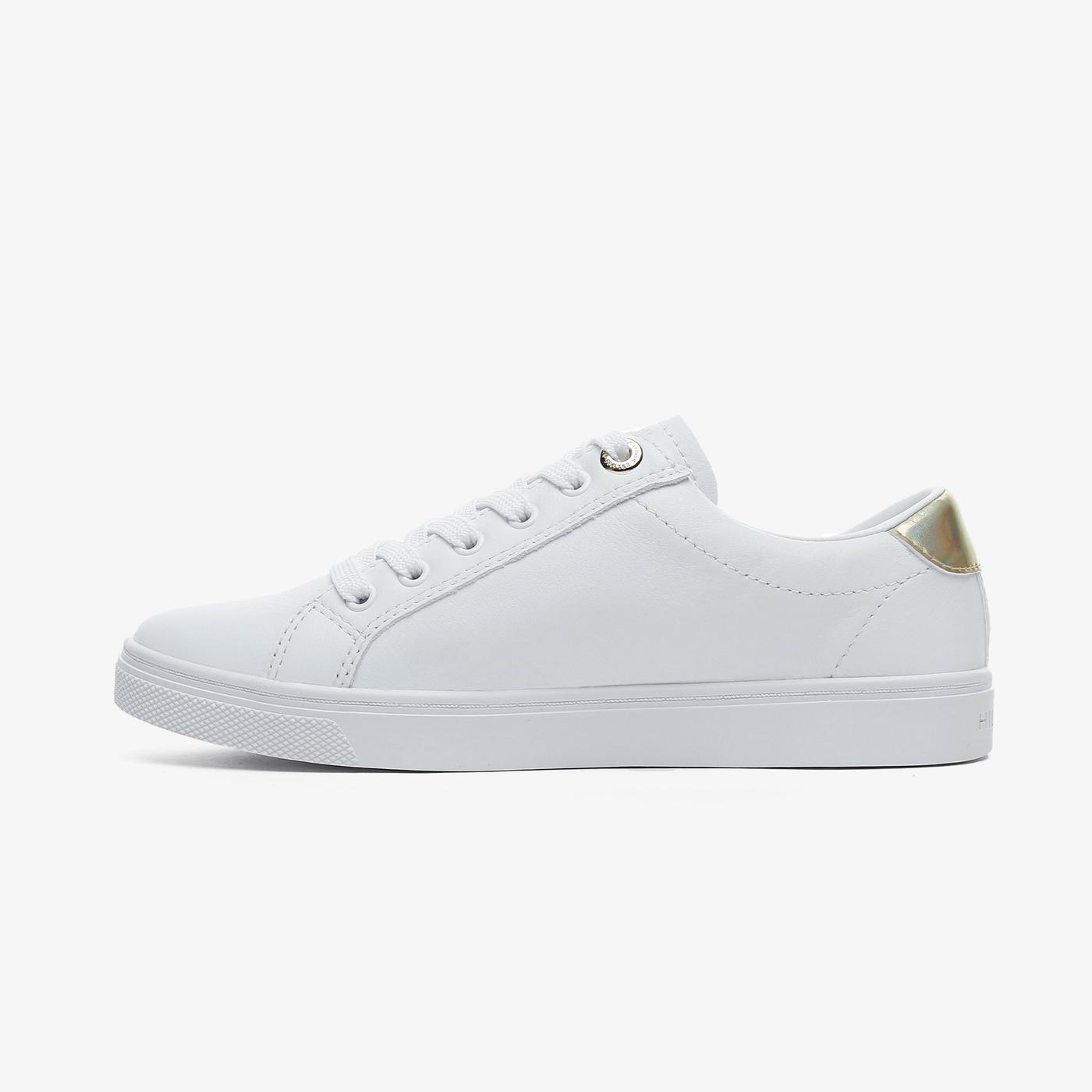 Tommy Hilfiger Corporate Cupsole Kadın Beyaz Spor Ayakkabı