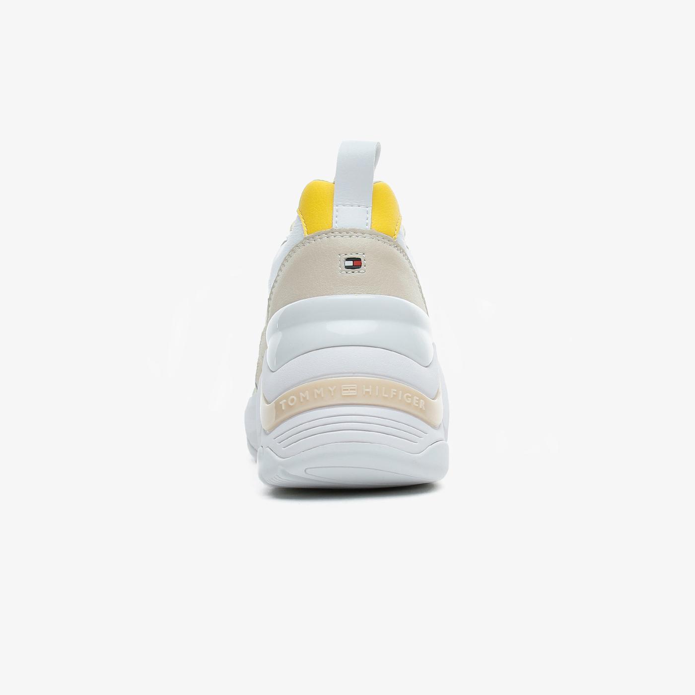 Tommy Hilfiger Fashion Wedge Kadın Krem Spor Ayakkabı