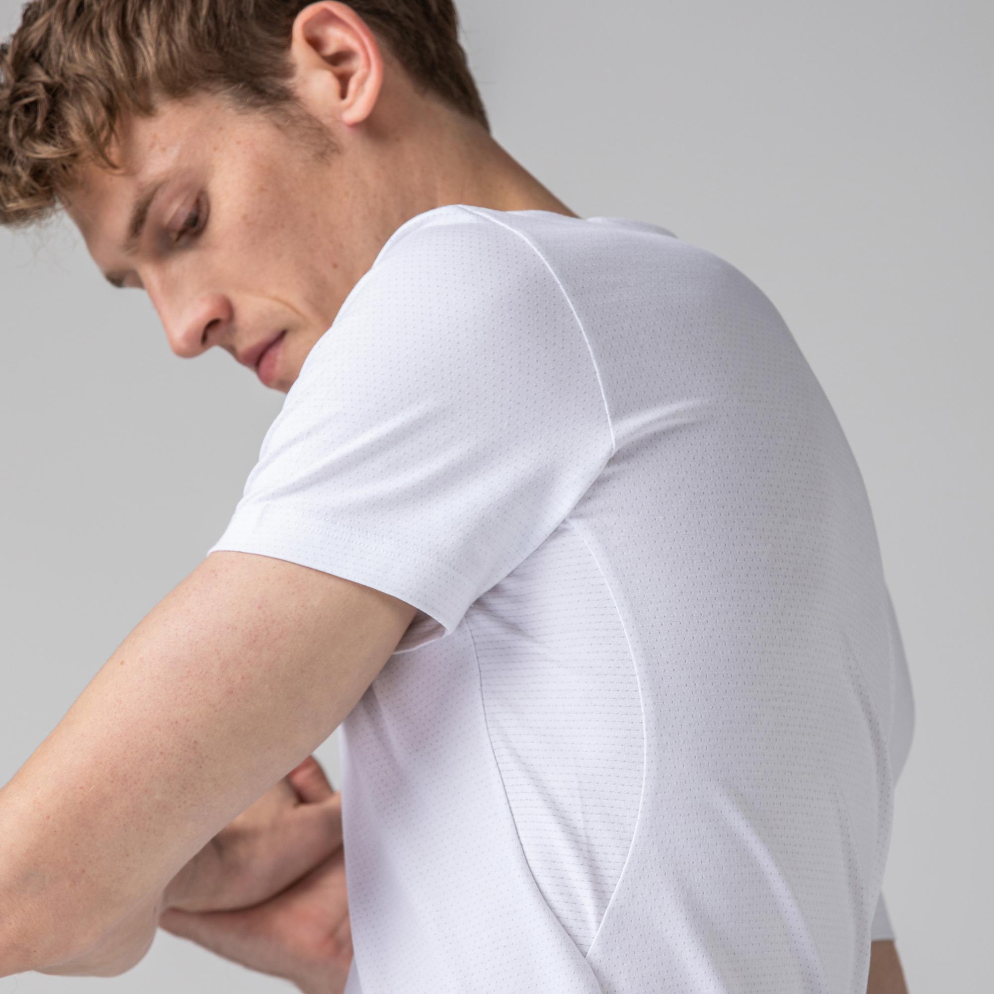 Lacoste Erkek Slim Fit Beyaz T-Shirt