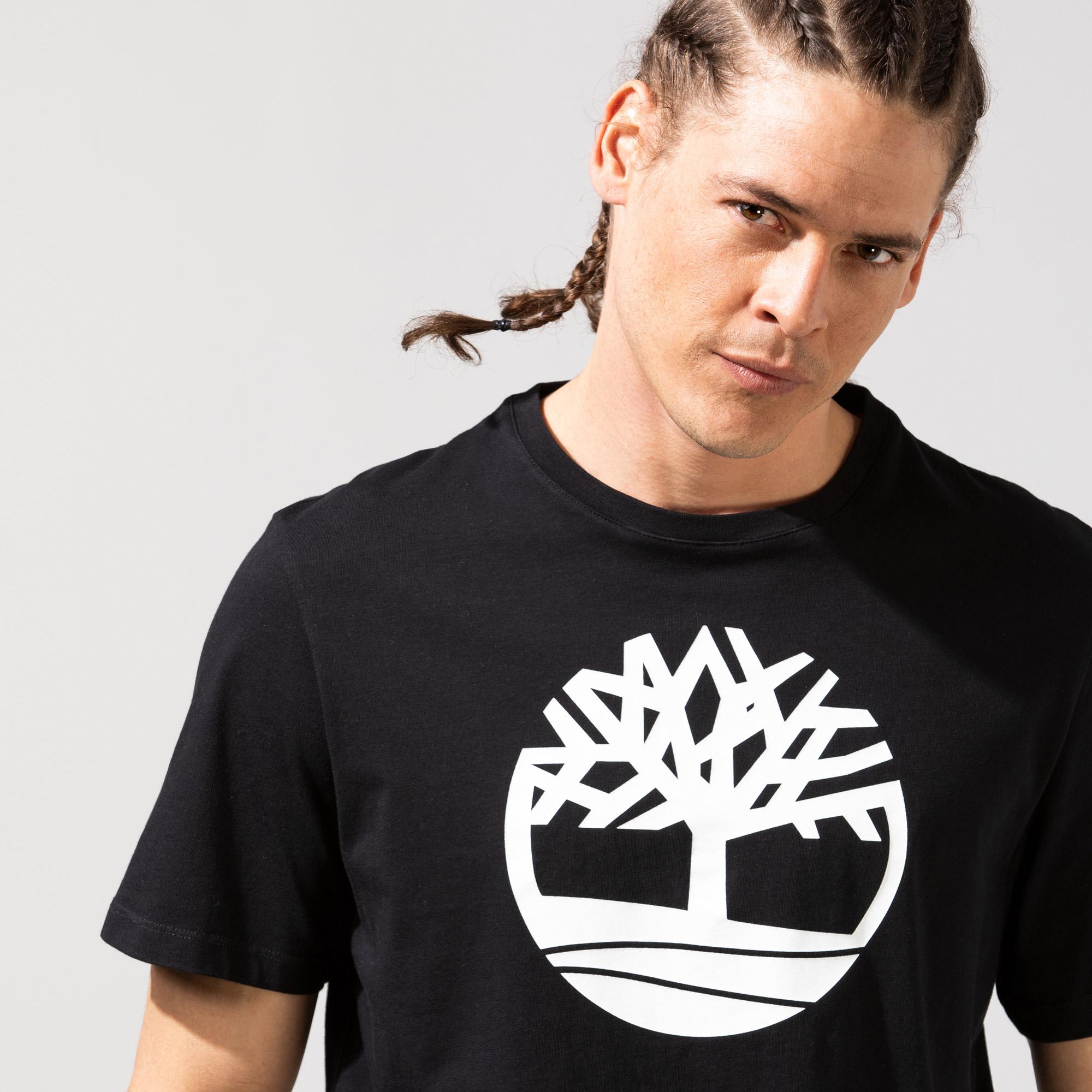 Timberland SS Kennebec River Tree Logo Erkek Siyah T-Shirt
