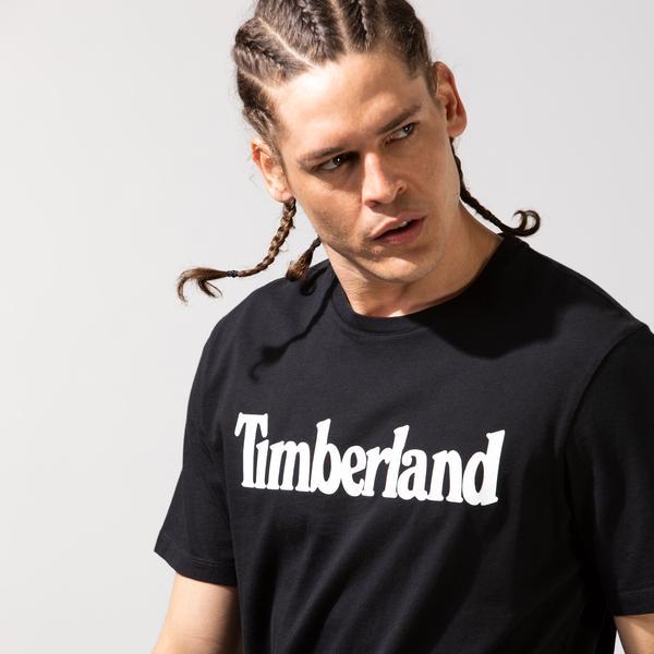 Timberland SS Kennebec River Linear Erkek Siyah T-Shirt
