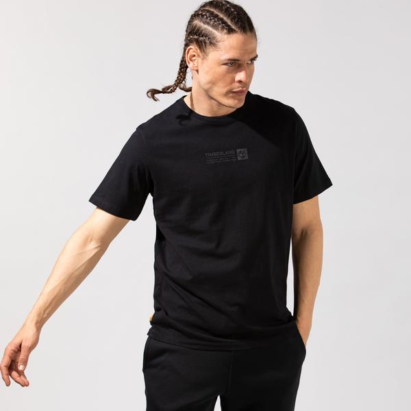 Timberland SS Brand Carrier Mini Linear Erkek Siyah T-Shirt