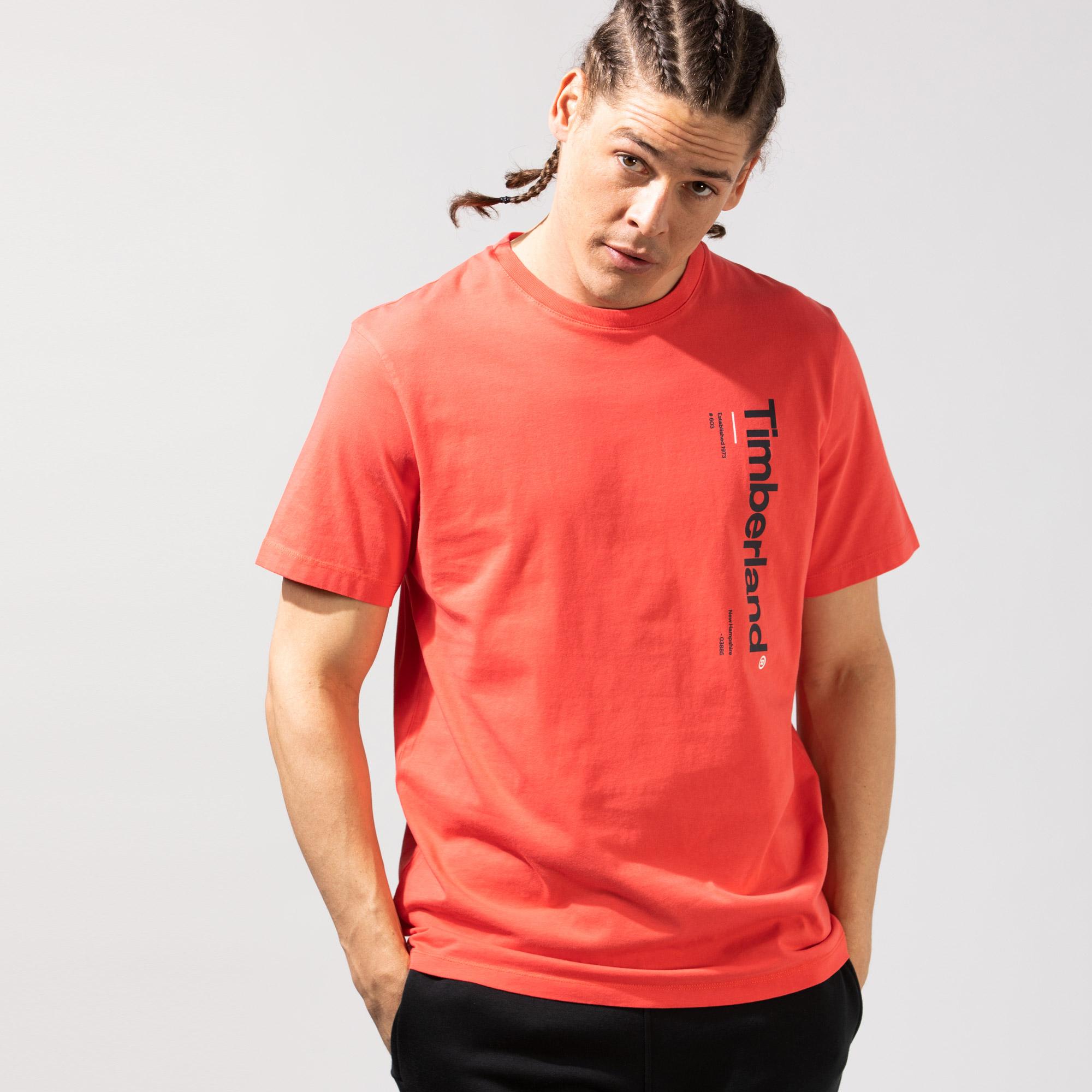 Timberland SS Kennebec River Logo Carrier Erkek Kırmızı T-Shirt