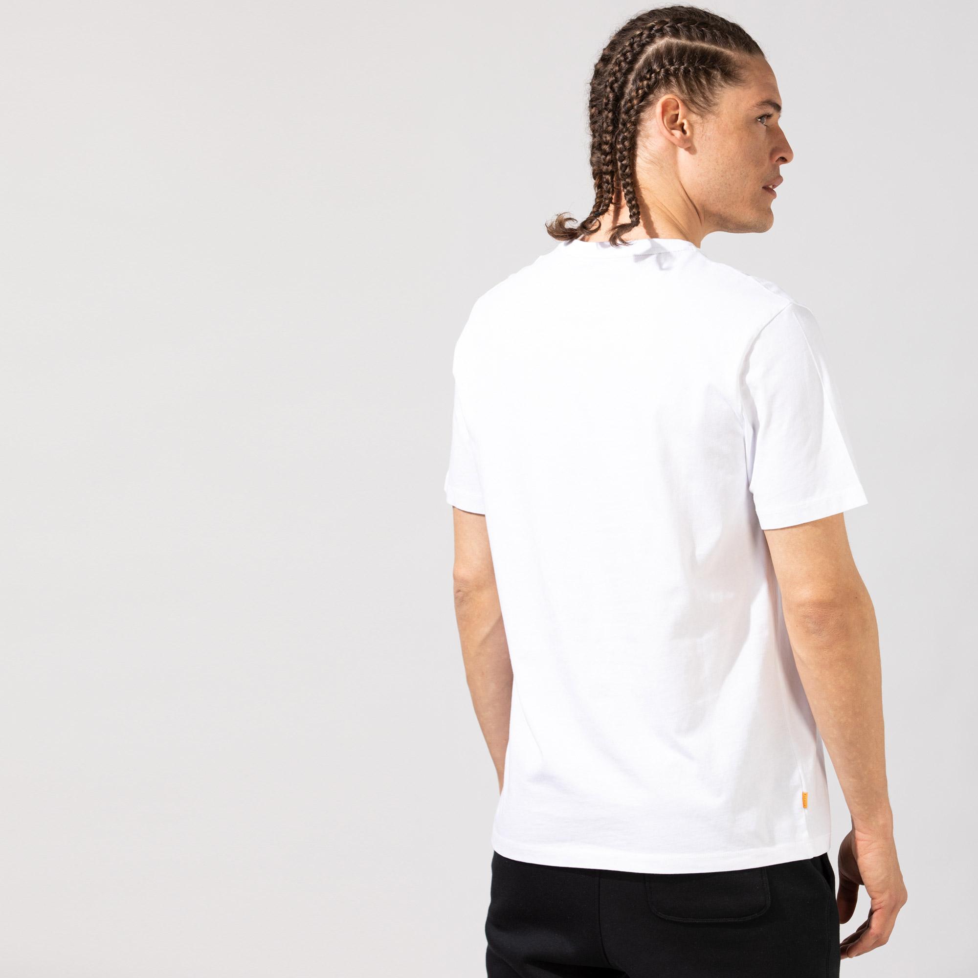 Timberland SS Kennebec River Logo Carrier Erkek Beyaz T-Shirt