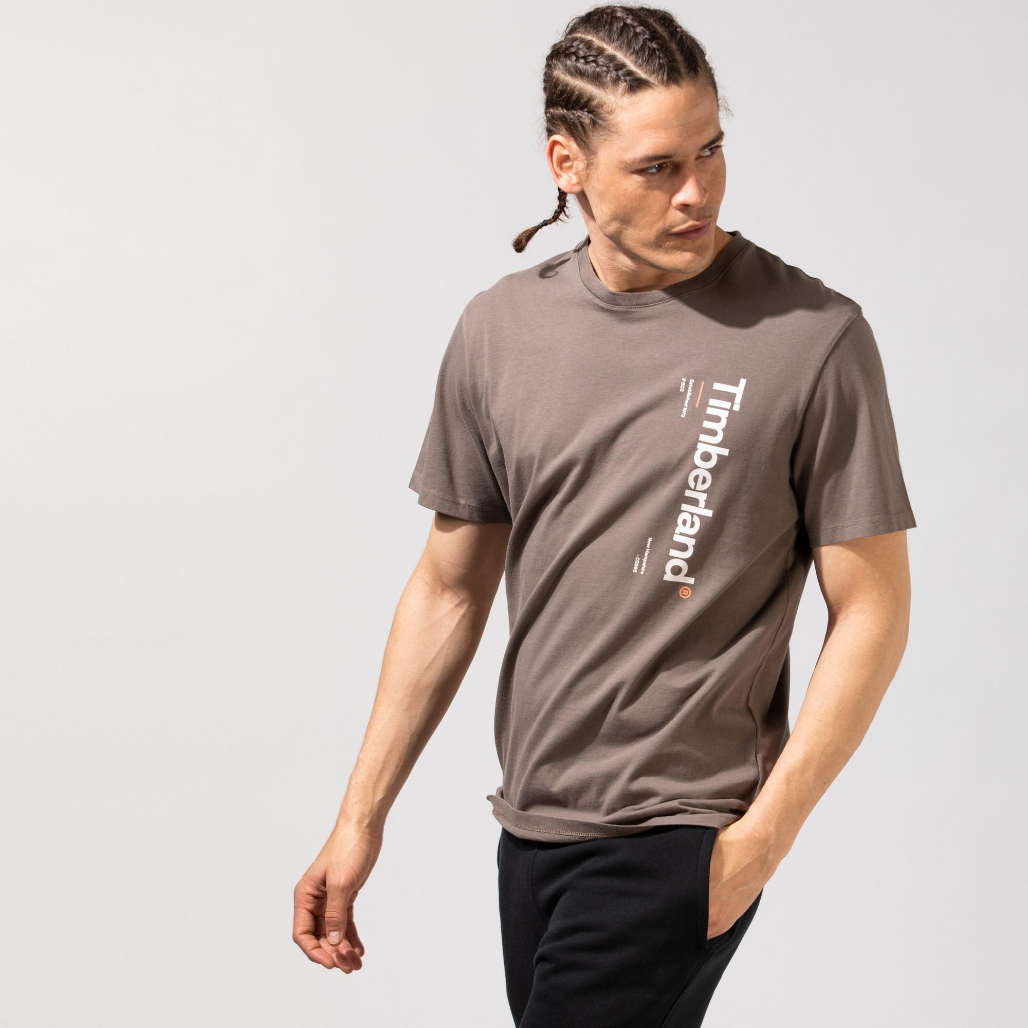 Timberland SS Kennebec River Logo Carrier Erkek Kahverengi T-Shirt