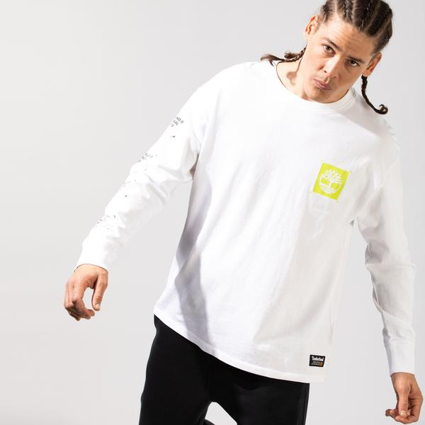 Timberland YC LS Workwear Graphic Erkek Beyaz Sweatshirt