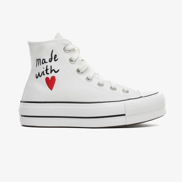 Converse Valentine's Day Chuck Taylor All Star Lift Hi Kadın Beyaz Sneaker