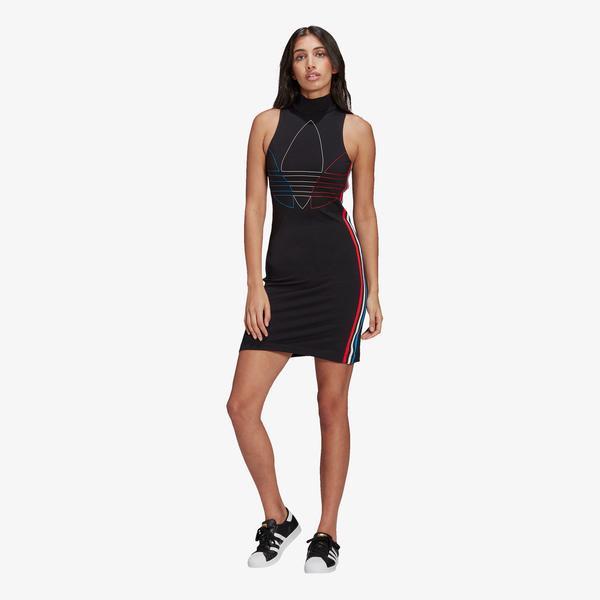 adidas Adicolor Tricolor Kadın Siyah Elbise