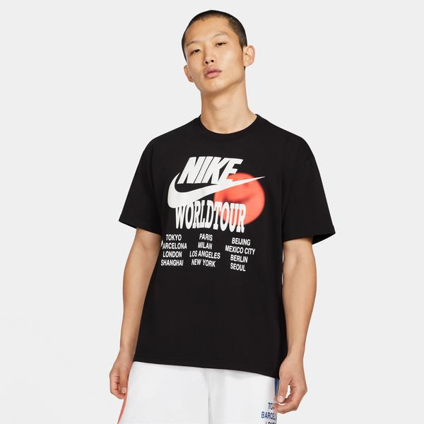 Nike Sportswear World Tour Erkek Siyah T-Shirt