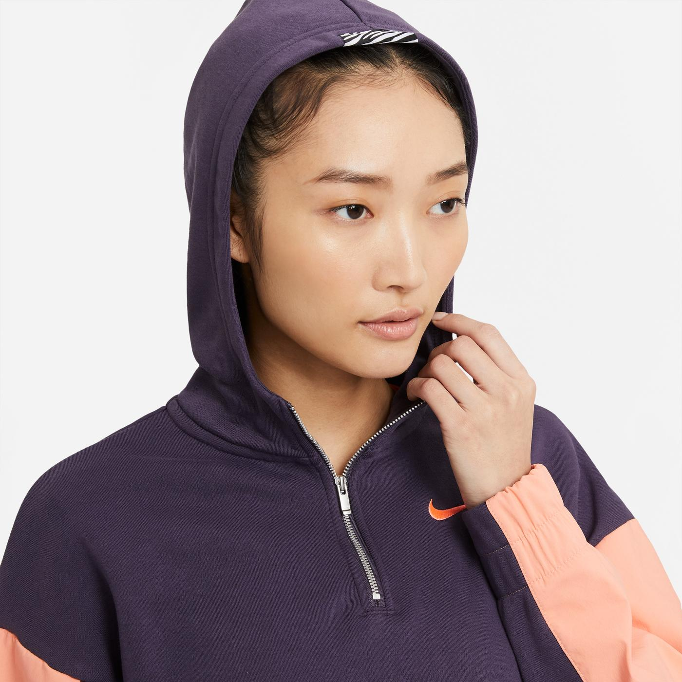 Nike Sportswear Icon Clash Kadın Mor Sweatshirt
