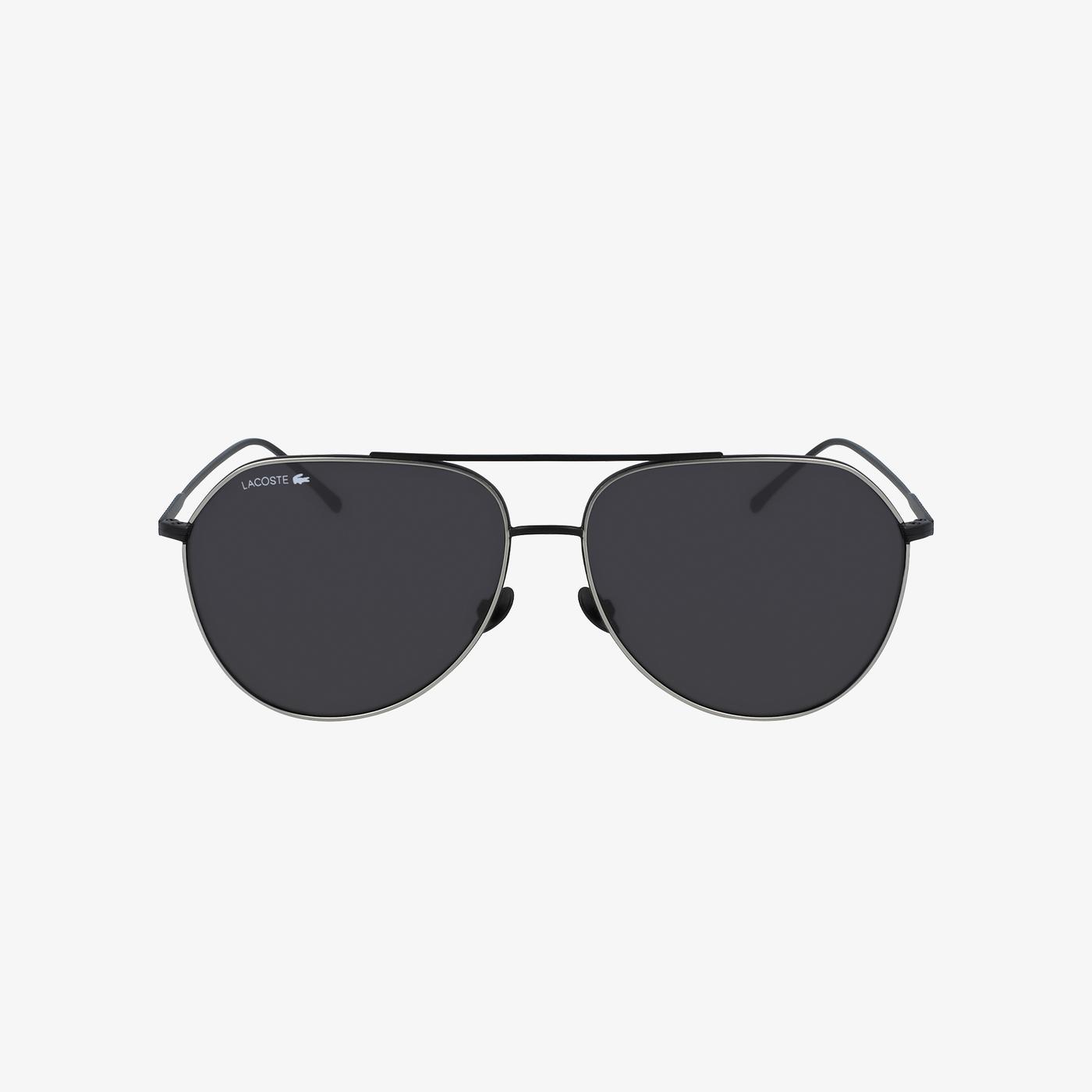 Lacoste Aviator Unisex Siyah Güneş Gözlüğü