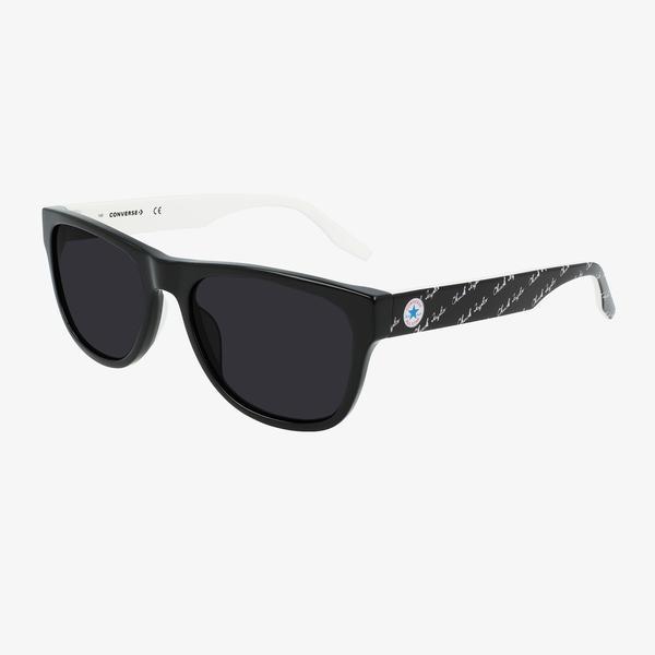 Converse Erkek Siyah Dikdörtgen Çerçeveli Gözlük