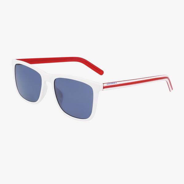 Converse Erkek Mavi Dikdörtgen Çerçeveli Gözlük