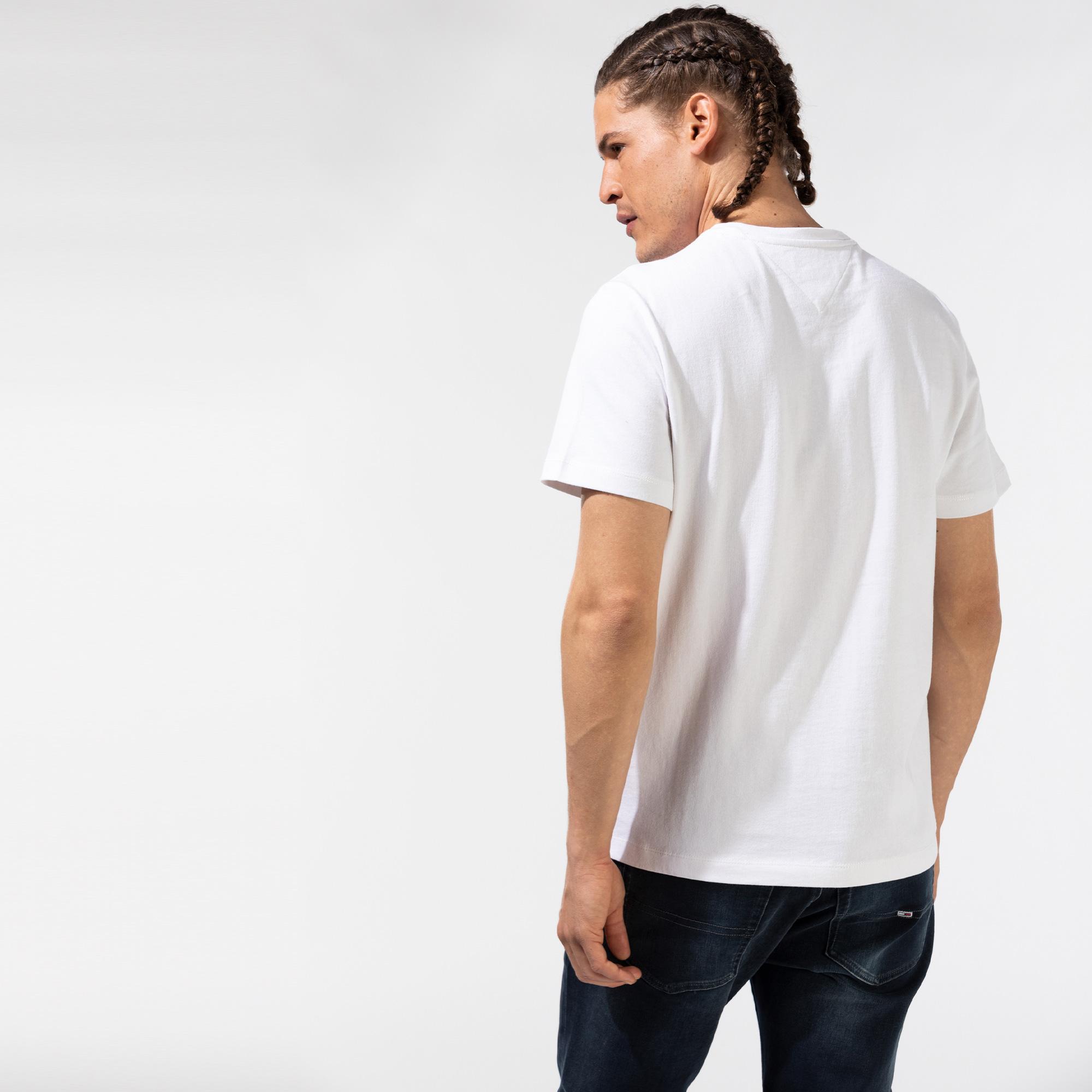 Tommy Hilfiger Tommy Badge Erkek Beyaz T-Shirt
