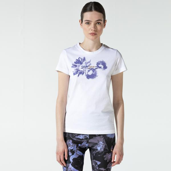 Puma Evide Graphic Kadın Beyaz T-Shirt