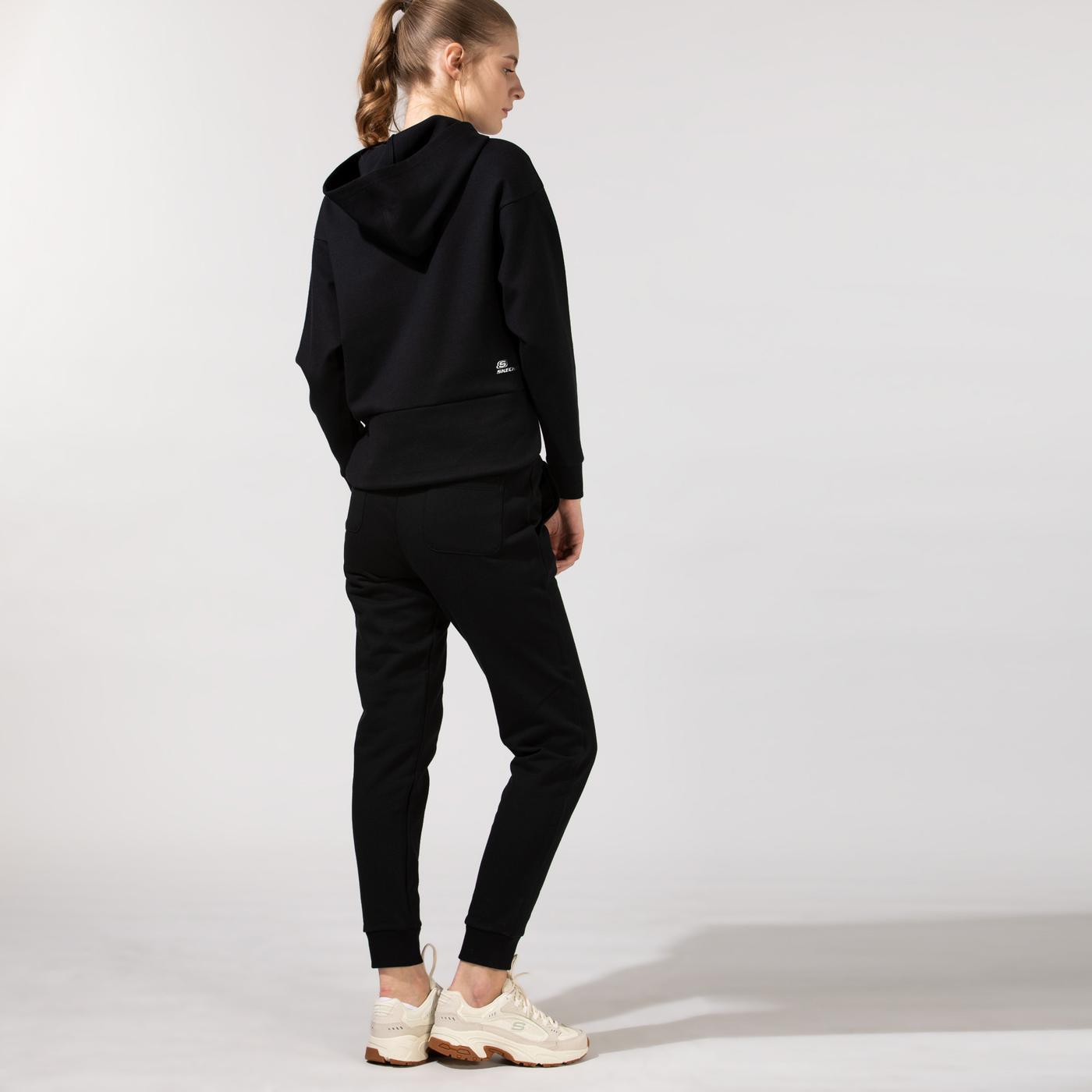 Skechers Fleece Kadın Siyah Eşofman Altı
