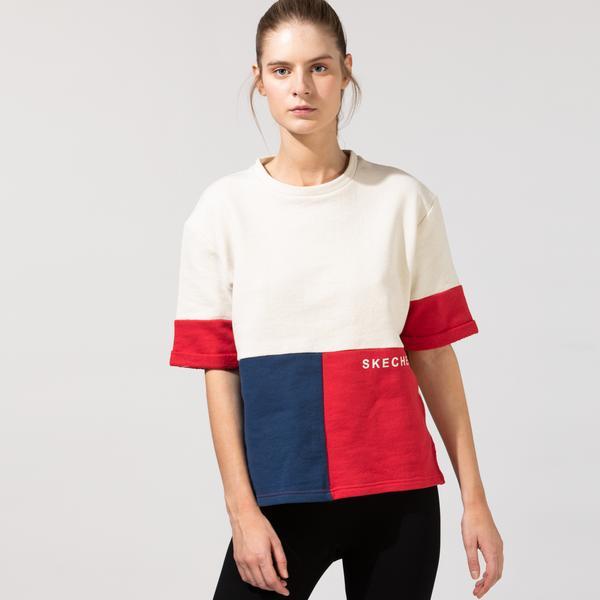 Skechers Fleece Kadın Beyaz T-Shirt