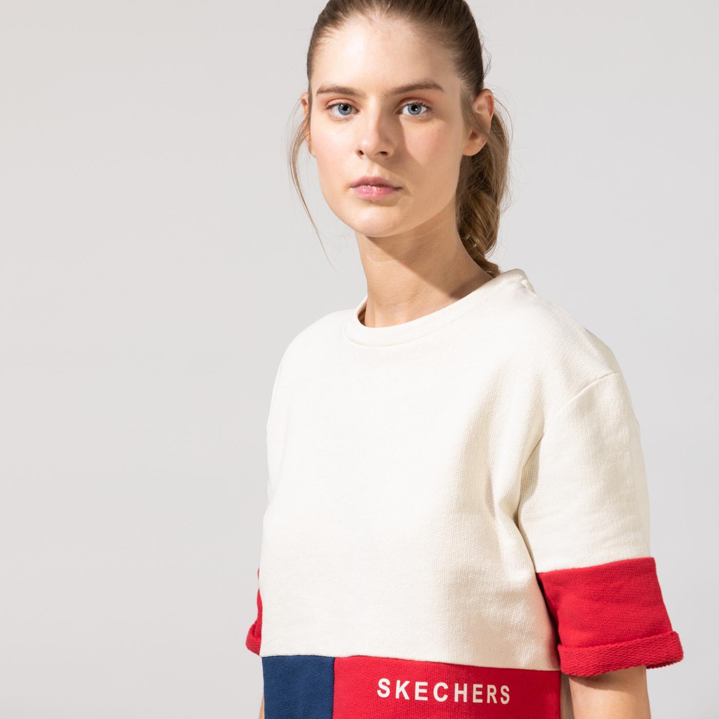 Skechers Fleece Kadın Renkli T-Shirt