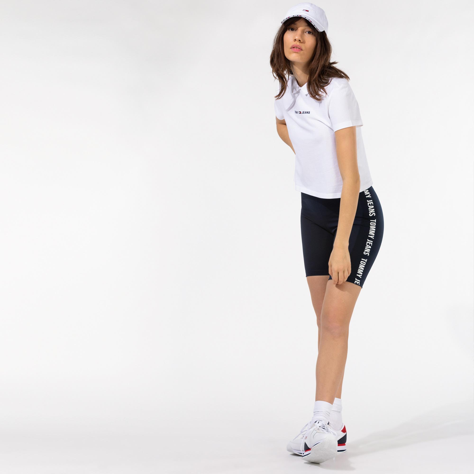 Tommy Hilfiger TJW Fitted Branded Bike Kadın Lacivert Şort