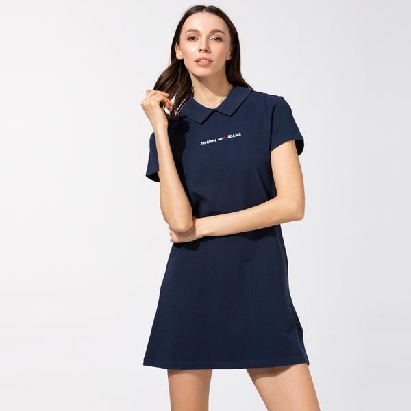Tommy Hilfiger TJW Essential Kadın Lacivert Elbise
