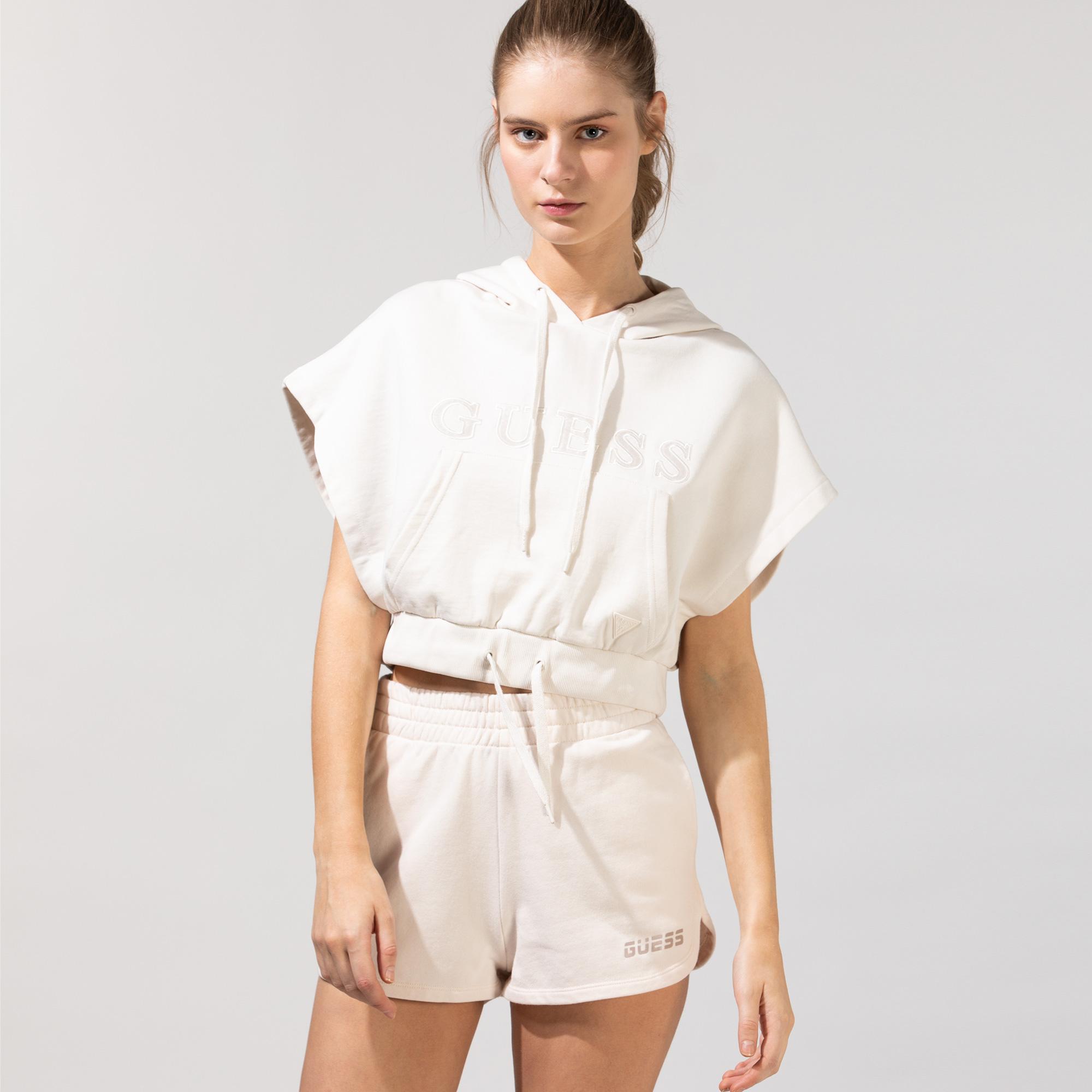 Guess Kadın Beyaz Sweatshirt
